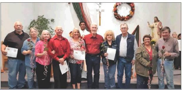 Parishes honor couples married for over 40 years