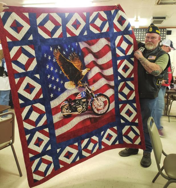Harden honored with Quilt of Valor