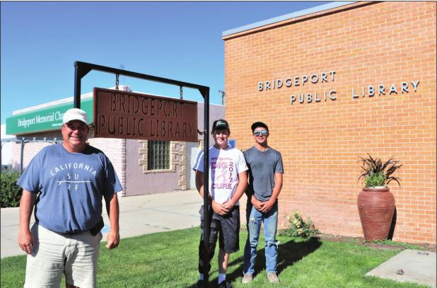 Shop students design and fabricate new sign for library