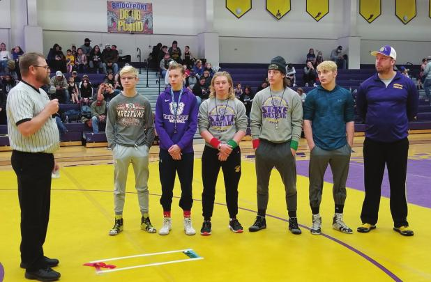 Bulldog grapplers place seventh for Districts