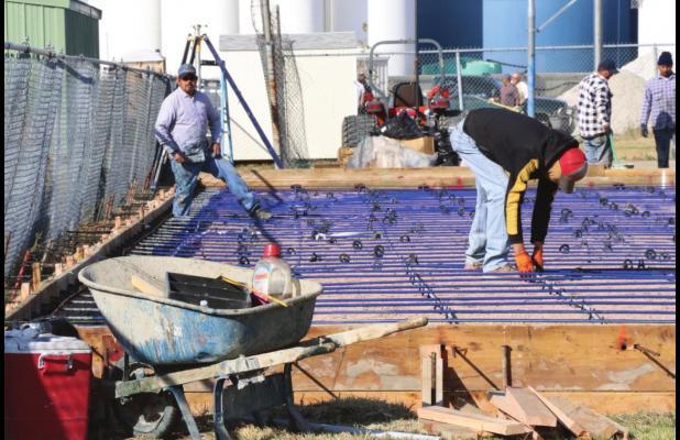 Tennis Court Project underway